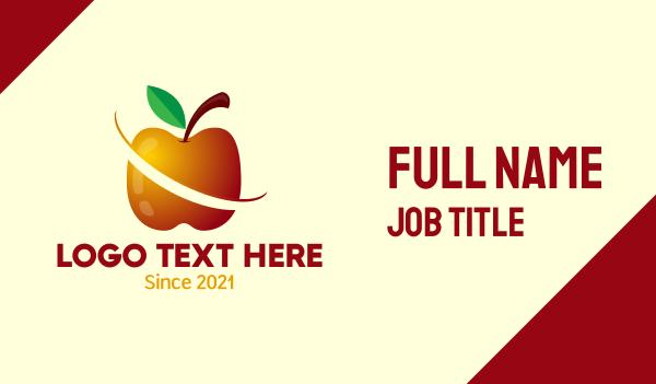 flavor - Sliced Apple Fruit Food Business card horizontal design