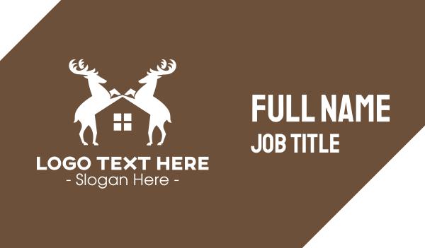 antler - Wild Deer Real Estate Business card horizontal design