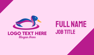 Colorful Mallard Duck Business Card