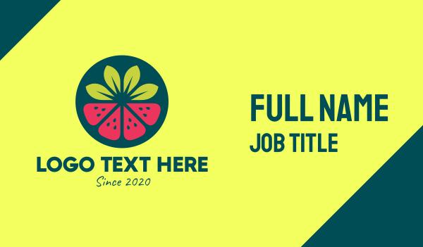 flavor - Strawberry Watermelon Fruit Business card horizontal design