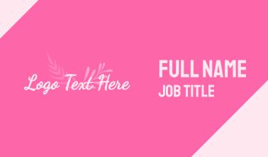 Pink Wellness Wordmark Business Card