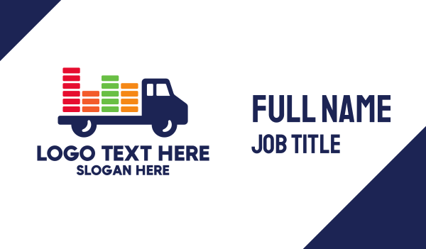 cargo delivery - Colorful Cargo Truck Business card horizontal design