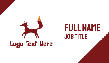 Red Brown Fox Business Card
