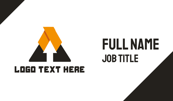 scaffolding - Arrow Triangle Business card horizontal design