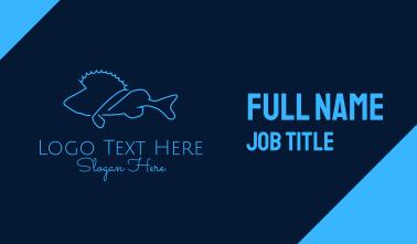 Saltwater Fish Monoline Business Card