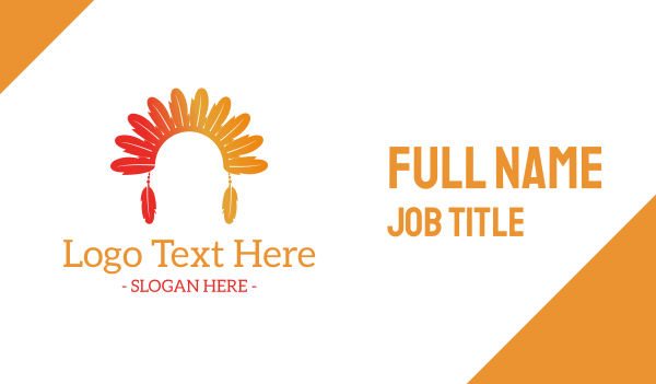 fest - Tribe Headwear Business card horizontal design