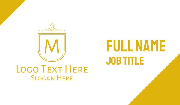 patchwork - Golden Luxurious Badge Lettermark Business card horizontal design