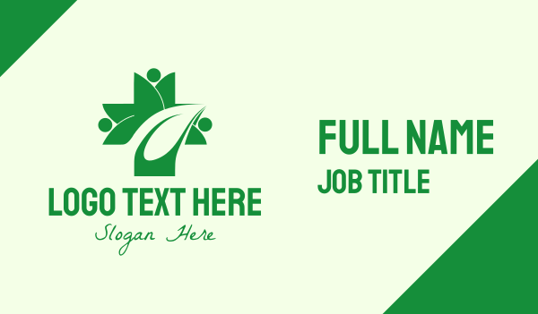 health and wellness - Green Natural Healing Business card horizontal design