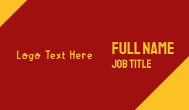 Fun Block Wordmark Business Card