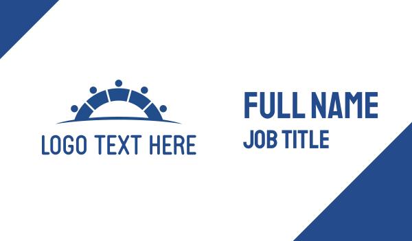 business software - Human Team Bridge Business card horizontal design