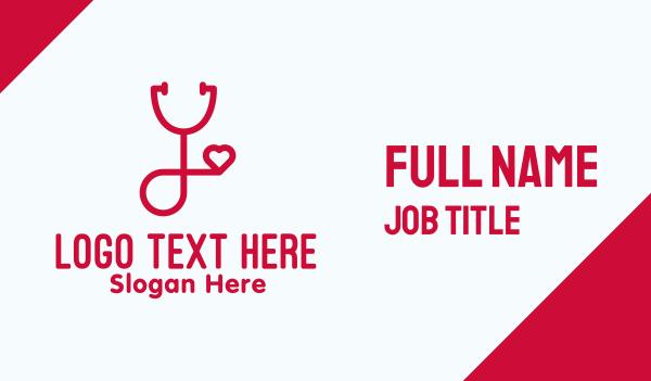 hospital worker - Professional Heart Doctor Stethoscope Business card horizontal design