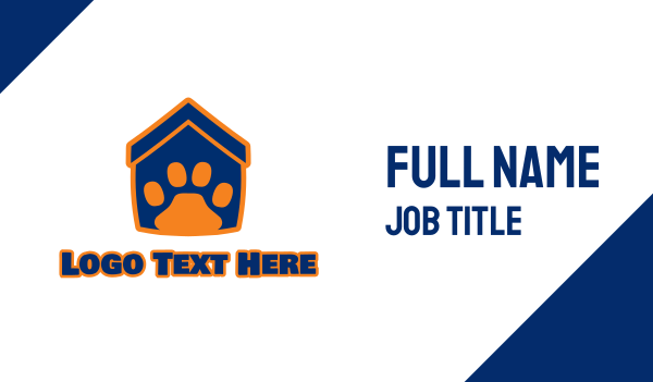 kitten - Pet House Business card horizontal design