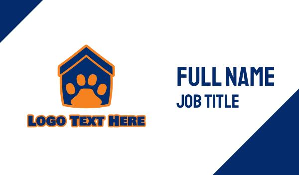 animal shelter - Pet House Business card horizontal design