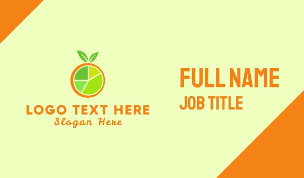 tangerine - Fruit Chart Business card horizontal design