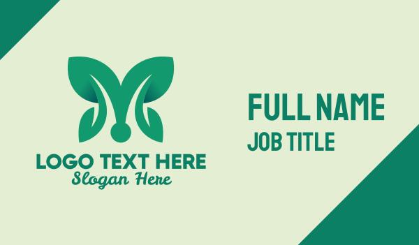botany - Plant Leaf Wings Business card horizontal design