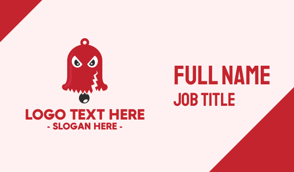 spooky - Spooky Red Bell Business card horizontal design