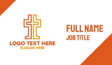 Geometric Christian Cross  Business Card