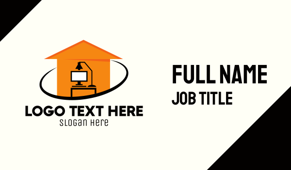 work from home - Modern Work From Home Business card horizontal design
