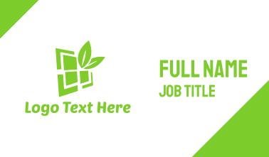 Eco Window  Business Card