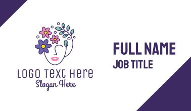 Female Flower Head Business Card
