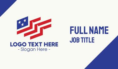 Creative American Flag Business Card