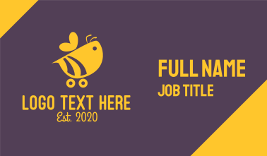 Cute Bumble Bee Car Cart Business Card