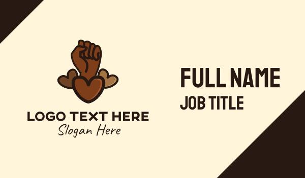 black lives matter - Movement Love Hearts Business card horizontal design