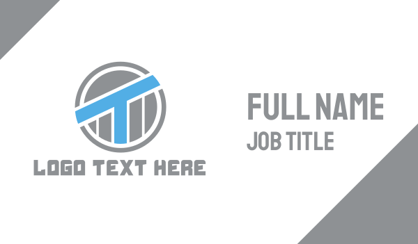 scaffolding - Blue Industrial T Business card horizontal design
