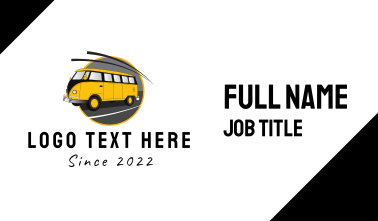 Yellow Van Business Card
