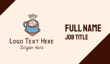 Frappe Coffee Cup Business Card