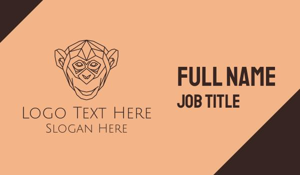 ape - Monkey Monoline Business card horizontal design