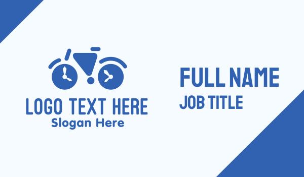 cyclist - Geometric Time Bike Business card horizontal design