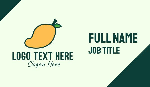healthy food - Yellow Mango Business card horizontal design