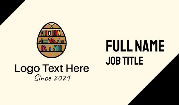 tutor - Book Shelf Egg Business card horizontal design
