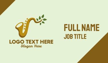 Natural Saxophone Business Card