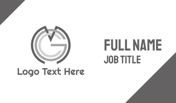 grey circle - Monochrome MGC Business card horizontal design