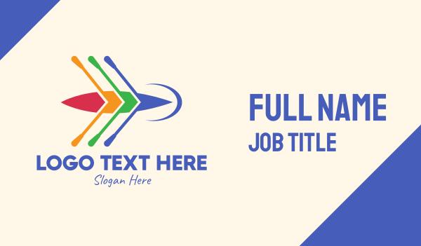 paddle - Colorful Canoe Team Business card horizontal design