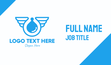 Blue Liquid Sanitizer Wings Business Card