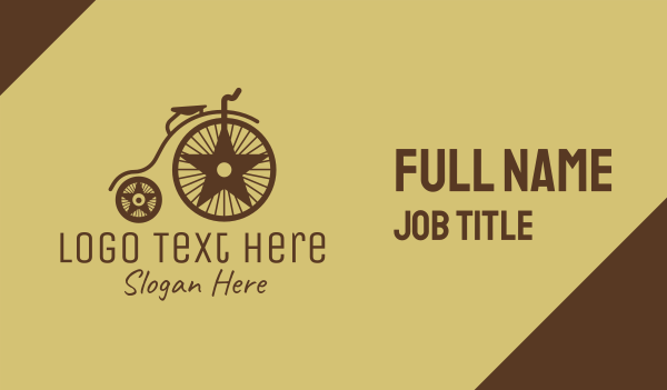 bicycle - Traditional Penny Farthing Business card horizontal design