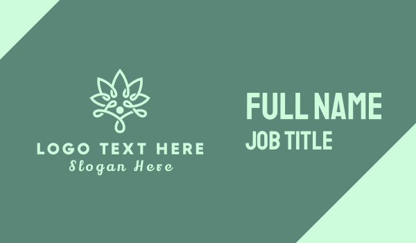 yoga instructor - Wellness Flower Business card horizontal design