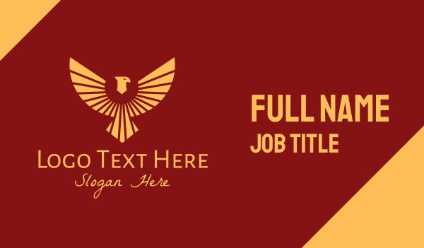 wild animal - Flying Egyptian Bird Business card horizontal design