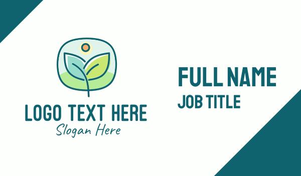 nature conservation - Green Organic Plant Business card horizontal design