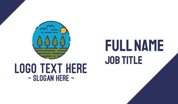 plain - Sunny Countryside Business card horizontal design