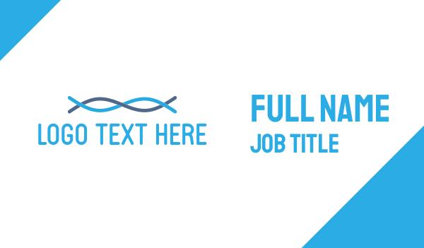 chain - Blue Fibre Business card horizontal design