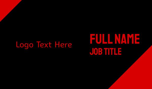 lucifer - Satanic Wordmark Business card horizontal design