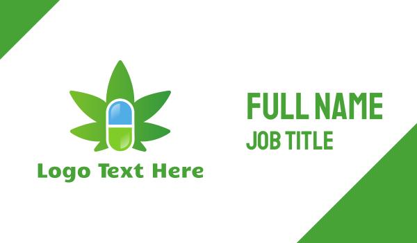dispensary - Medical Marijuana Business card horizontal design