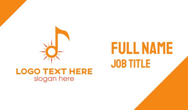orange sun - Orange Sun Note Business card horizontal design