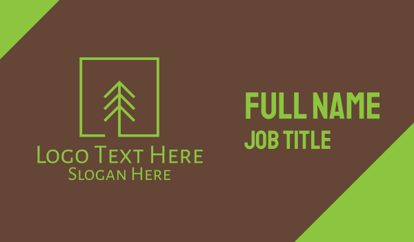 pine forest - Pine Tree Forest Business card horizontal design
