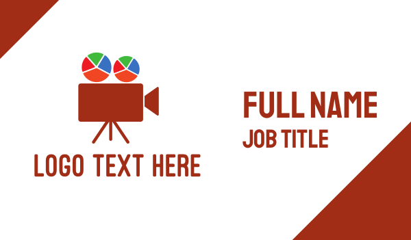 red table - Chart Film Business card horizontal design