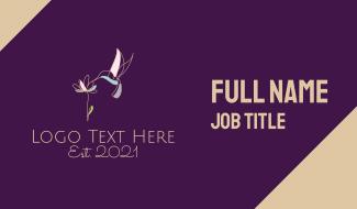 Hummingbird Flower Business Card